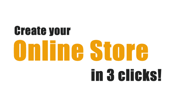Create your online store in 3 clicks!